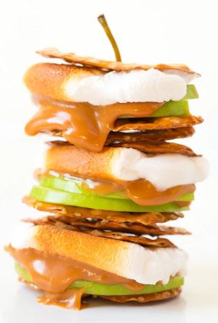 Caramel Apple S'mores